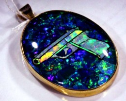 QUALITY BLACK MOSAIC OPAL-9KGOLD  LIGHTNINGRIDGE  76.3 CTS JJ-