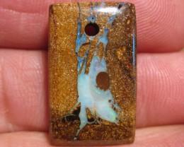 YowahOpals*21.40Cts-'Drilled' Australian Boulder Opal.