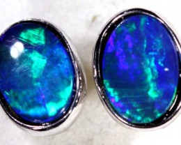 OPAL SILVER  EARRINGS   5.1 CTS    OF-366