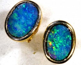 OPAL SILVER  EARRINGS 5.6   CTS    OF-369