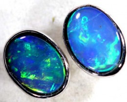 OPAL SILVER  EARRINGS  4.6  CTS    OF-372