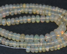 58.35 Cts Natural Multi Play Color Ethiopian Opal Beads