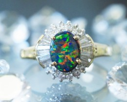 Gold Opal Engagement Rings