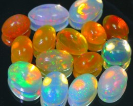 5.62Ct Natural Untreated Bright Color Play Ethio Welo Solid Opal Lot