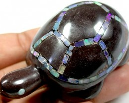 BEAUTIFUL INLAID OPAL TURTLE  415 CARATS Q84