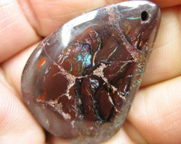 C/O.58cts,DRILLED WHOLESALE BOULDER MATRIX OPAL.