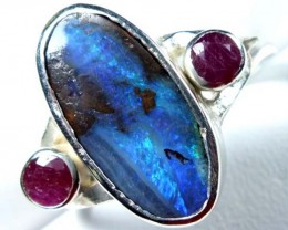 26.0  CTS  BOULDER OPAL RING   TBO-1452