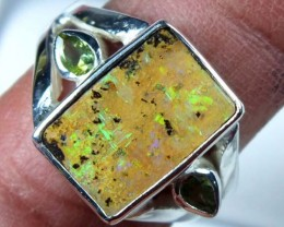28.7 CTS  BOULDER OPAL RING    TBO-1457