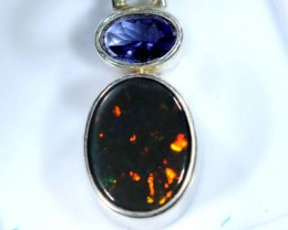 OPAL SILVER PENDANT WITH TOPAZ 10.0  CTS   OF-393