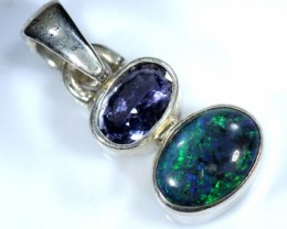 OPAL SILVER PENDANT WITH TOPAZ 6.5  CTS   OF-403