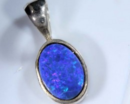 DOUBLET OPAL SILVER PENDANT  6.0 CTS   OF-413