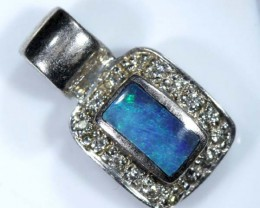 OPAL SILVER INLAY PENDANT 6.5 CTS   OF-431