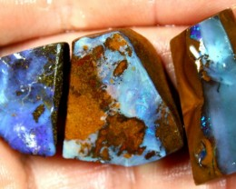85.45  CTS BOULDER OPAL PARCEL 3 PCS RUBS READY FOR CUTTING