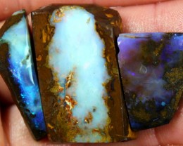 118.30  CTS BOULDER OPAL PARCEL 3 PCS RUBS READY FOR CUTTING