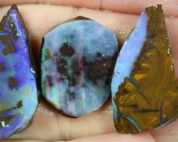 105.30 CTS BOULDER OPAL PARCEL 3 PCS RUBS READY FOR CUTTING
