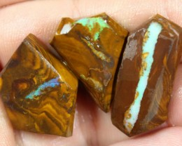90.90  CTS BOULDER OPAL PARCEL 3 PCS RUBS READY FOR CUTTING