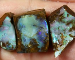 103.90 CTS BOULDER OPAL PARCEL 3 PCS RUBS READY FOR CUTTING