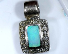 OPAL SILVER INLAY PENDANT 6.50 CTS  OF-445