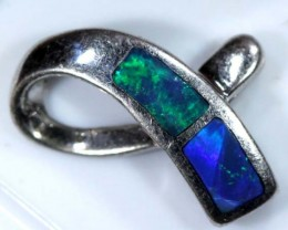 OPAL SILVER INLAY  PENDANT 3.6 CTS  OF-450