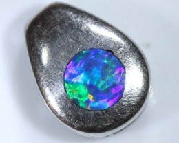 OPAL SILVER INLAY  PENDANT 4.0  CTS  OF-453