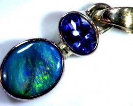 OPAL SILVER PENDANT WITH TOPAZ  8.7  CTS   OF-456
