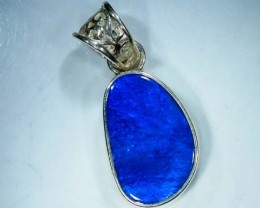 DOUBLET OPAL SILVER PENDANT 12.5  CTS   OF-466