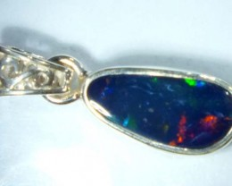 DOUBLET OPAL SILVER PENDANT 7.0  CTS   OF-482