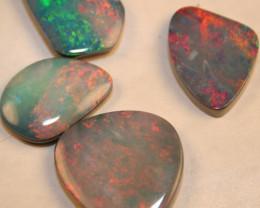 Black Opal Doublets 24.50 carat parcel REDS Coober Pedy