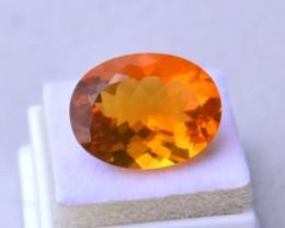 7.90 Carat Oval Cut Fine Mandarin Fire Opal
