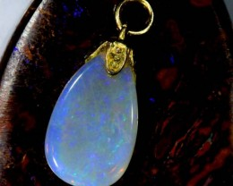 OPAL PENDANT WITH SILVER METAL AND GOLD PLATING 3.75 CTS   OF-528