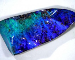 59.9CTS  QUALITY BOULDER OPAL ELECTRIC BLUE PURPLE  INV-171R