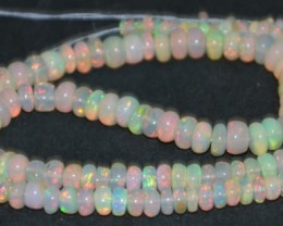 37.25 Ct Natural Ethiopian Welo Opal Beads Play Of Color