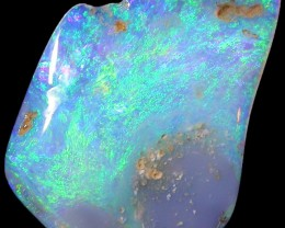 3.0 CTS FACED BLACK OPAL ROUGH-THIN-LIGHTNING RIDGE [BR2706]