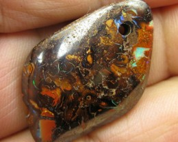 C/O.42cts,DRILLED BOULDER MATRIX OPAL.