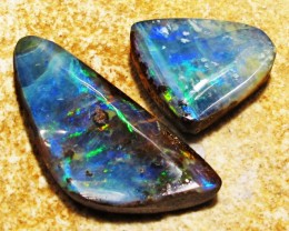 22.7Cts Pair Two Jelly Opals QOM 1403