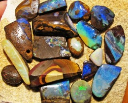 160Cts Parcel  18 Boulder  Opal   Rubs QOM 1409