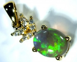 BLACK OPAL PENDANT /18k  OF-582