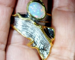 ETHIOPIAN OPAL RING STERLING SILVER 48.0 CTS    OF-583