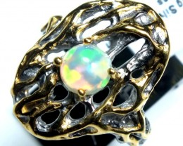 ETHIOPIAN OPAL RING STERLING SILVER 37.0 CTS    OF-585