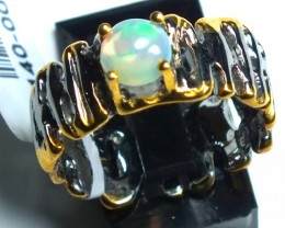 ETHIOPIAN OPAL RING STERLING SILVER 28.0 CTS    OF-588