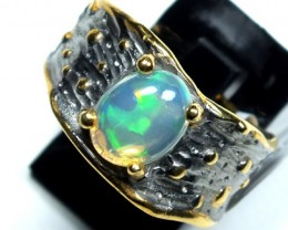 ETHIOPIAN OPAL RING STERLING SILVER 23.0 CTS    OF-590