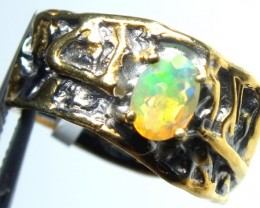 ETHIOPIAN OPAL RING STERLING SILVER 37.0 CTS    OF-594