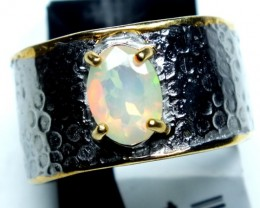 ETHIOPIAN OPAL RING STERLING SILVER 28.0 CTS    OF-595