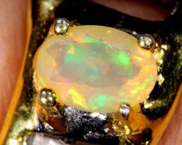 ETHIOPIAN OPAL RING STERLING SILVER 36.0 CTS    OF-596