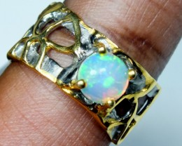25.0 CTS   ETHIOPIAN OPAL RING STERLING SILVER   OF-597