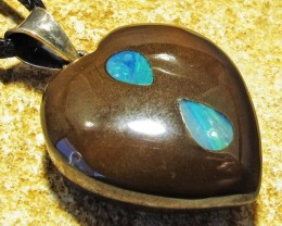 38.86 CTS Cute Heart Shape Inlay Pendant MMR 1690
