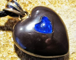 23.38 CTS Cute Heart Shape Inlay Pendant MMR 1730