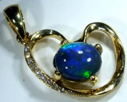 BLACK OPAL 18K GOLD PENDANT  9.35 CTS     OF-599