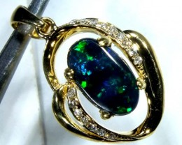 BLACK OPAL 18k GOLD PENDANT  10.0 CTS     OF-601