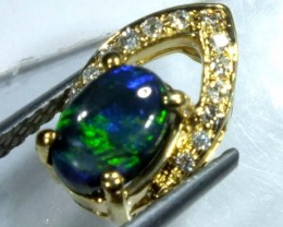 BLACK OPAL 18K GOLD PENDANT  7.10 CTS     OF-605